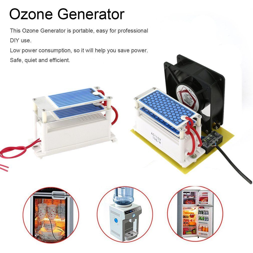 Ac 110v 10g Ozone Generator Ceramic Plate Integrated Sterilizer Air Circuit Ozonizer