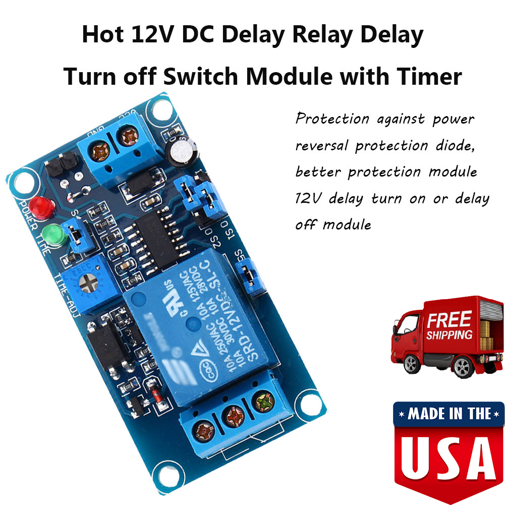 Dc 12v Trigger Delay Time Turn On Switch Timer Board Relay