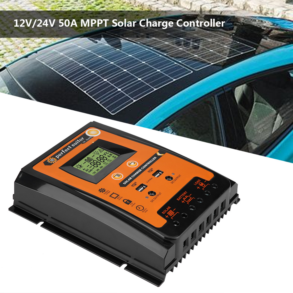 50a 70a Mppt Solar Charge Controller Solar Panel Battery