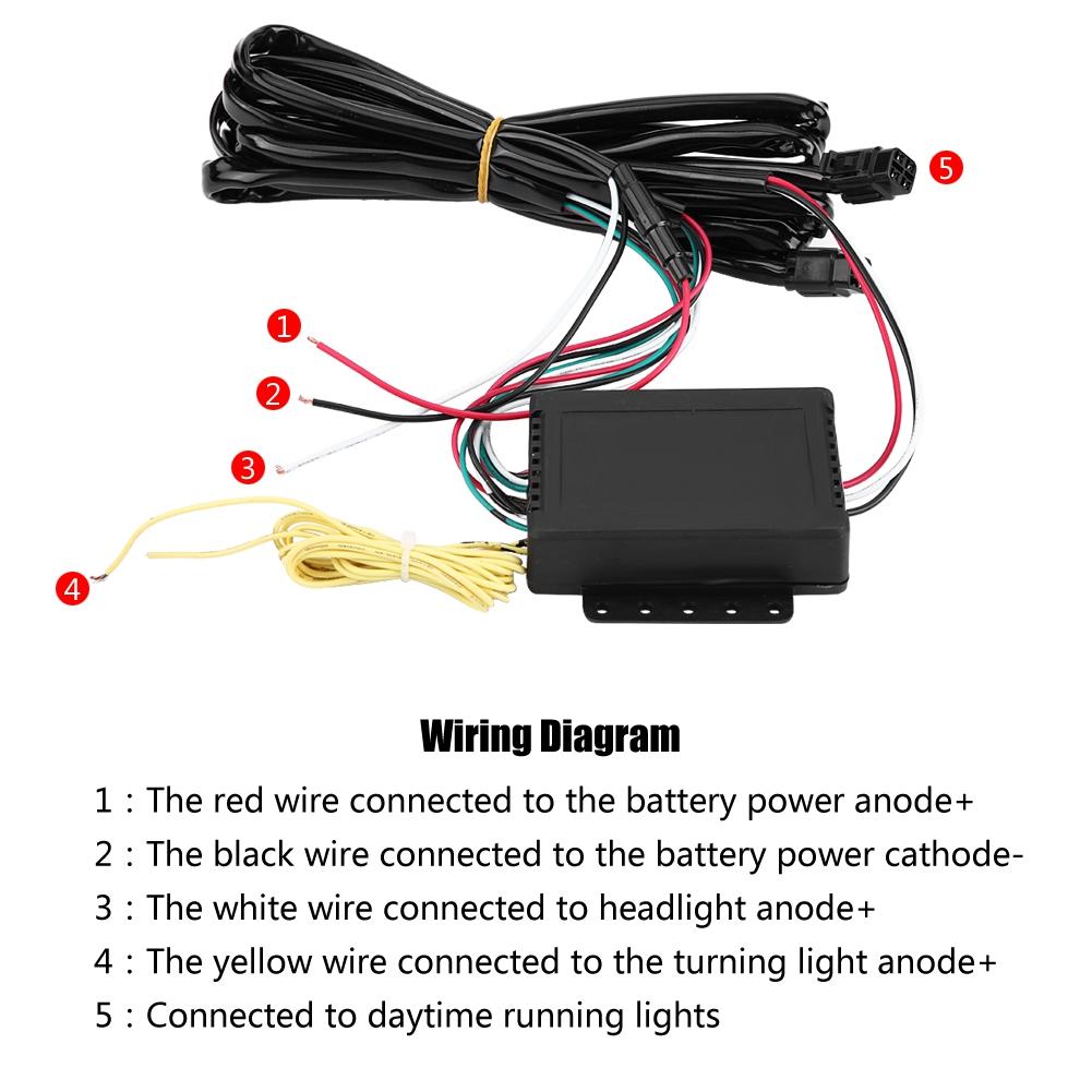 Car Led Drl Daytime Running Light Bumper Fog Lamp For Ford Focus Mk3 Wiring Diagram Lights 2012 2014
