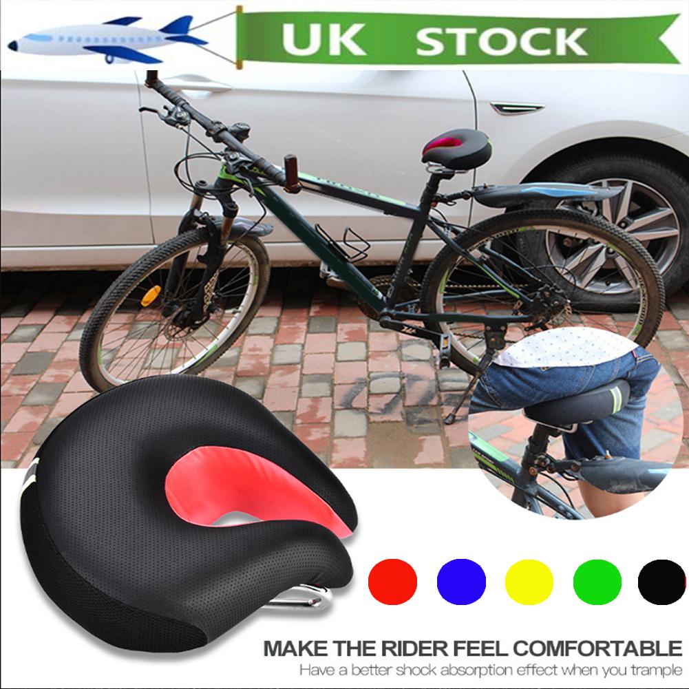 Comfort Wide Big Bum Mountain Road Bike Bicycle Sporty Soft Pad Saddle Seat New.