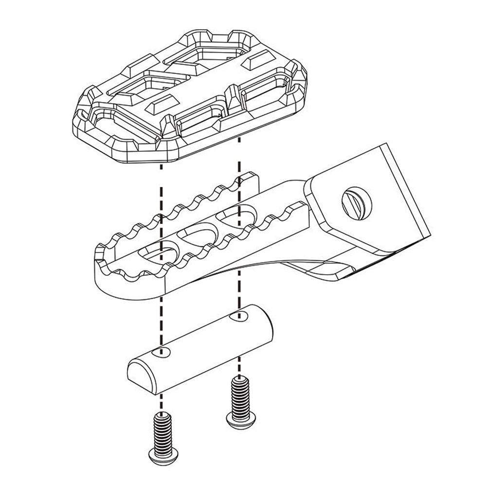 2pcs foot pegs pedal rest footrest for bmw g310gs g310r r1200gs lc Life-Sized Pedal Car BMW product description