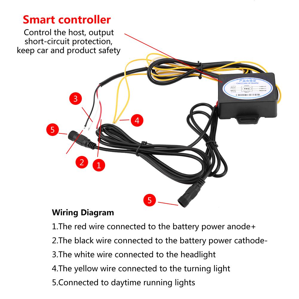 2pcs Led Car Drl Daytime Running Light Fog Lamp For Ford F 150 Wiring Diagram Lights Raptor 2016 2018