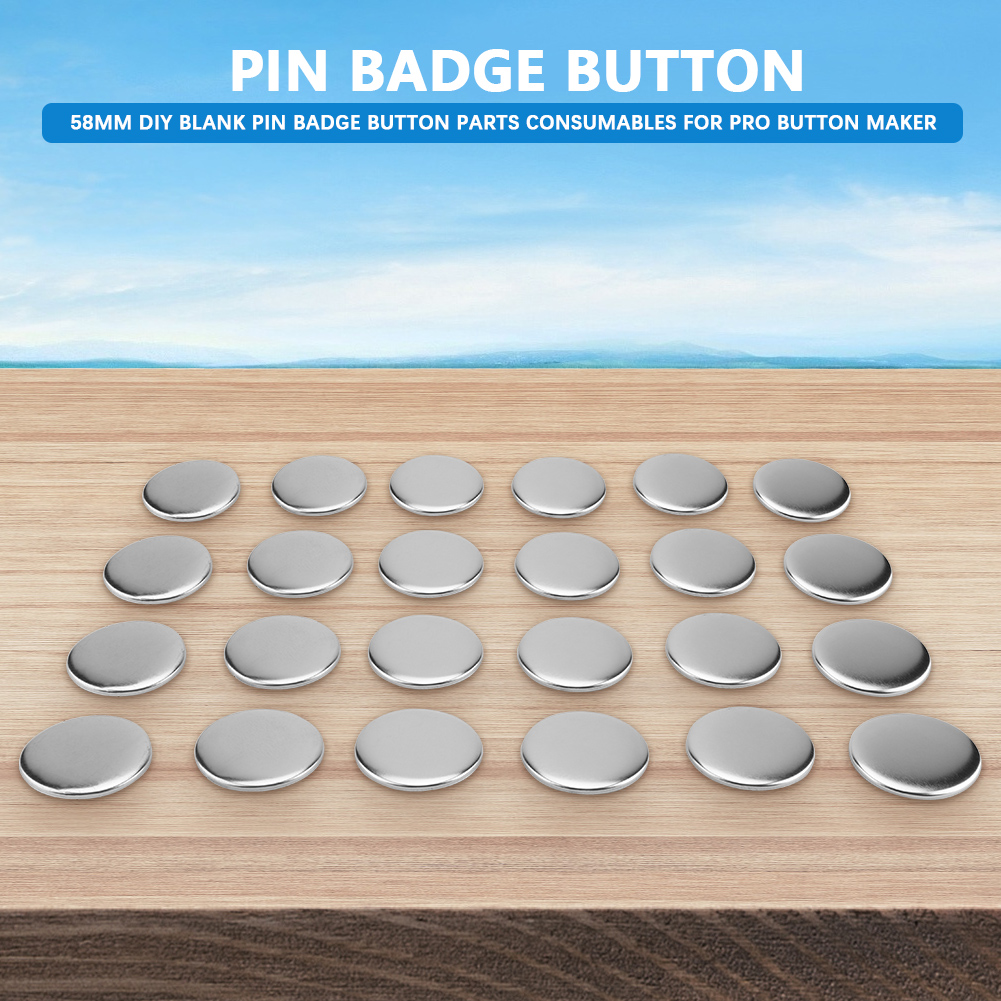 Badge Button Parts,1000 Sets of 1.26inch//32mm Blank Pin Badge Button Parts for Badge /& Button Making Machine