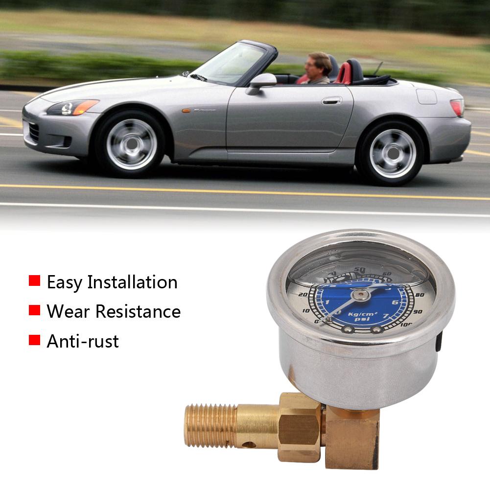 Fuel Pressure Liquid Filled Gauge Kit For Honda Civic