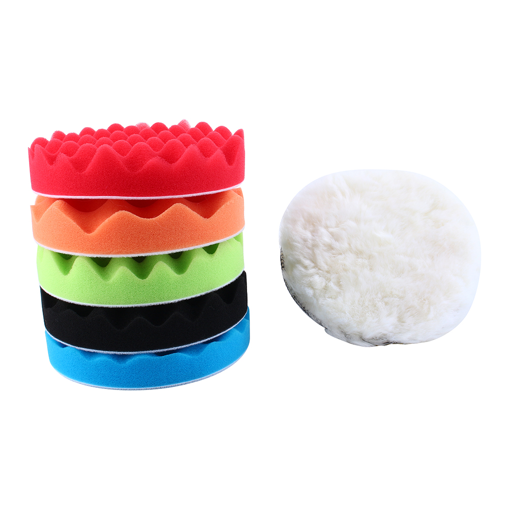 7X 6 Inch Polishing Buffer Waxing Sponge Foam Pads M14