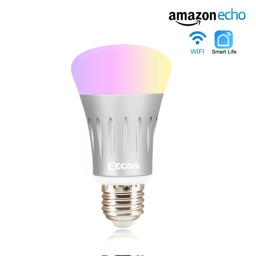 wifi smart multi color led light bulb dimmable night light bulb 7w app control ebay. Black Bedroom Furniture Sets. Home Design Ideas