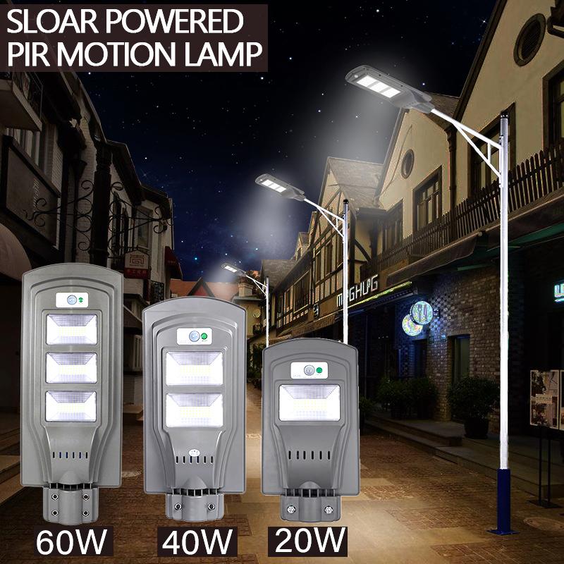 20/40/60W Outdoor Commercial LED Solar Street Light IP65