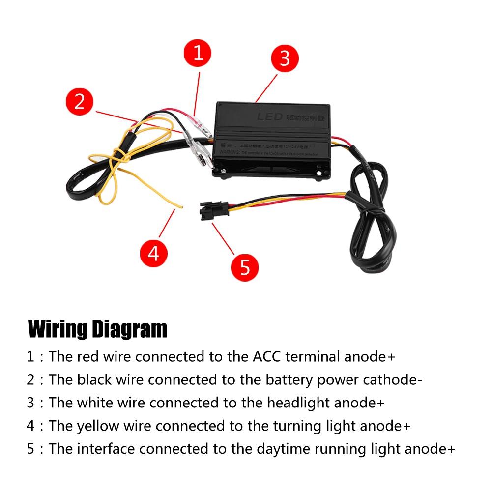 LED DRL Turning Light Daytime Running Lights for Toyota Land Cruiser Daytime Running Light Circuit Wiring Diagram on