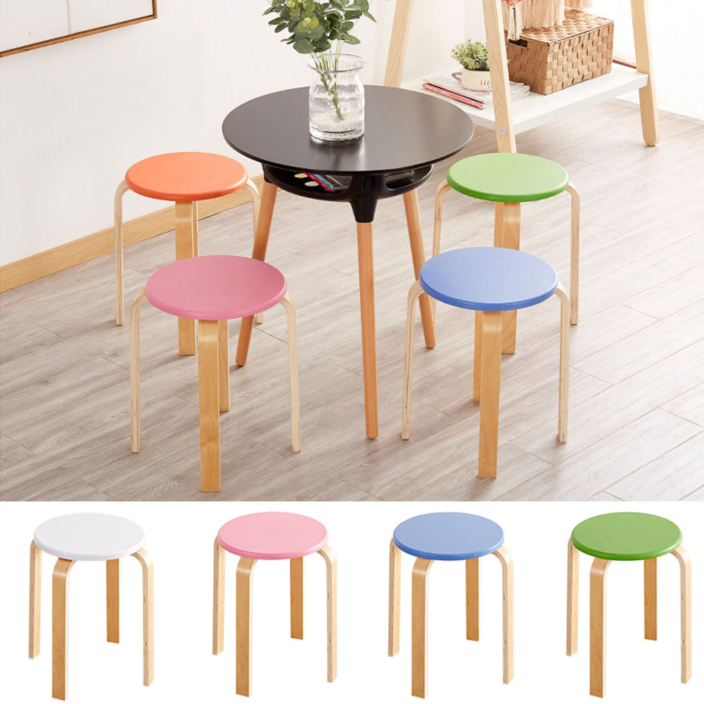 Multi Purpose Stackable Step Bar Stool Round Seat/chair ...