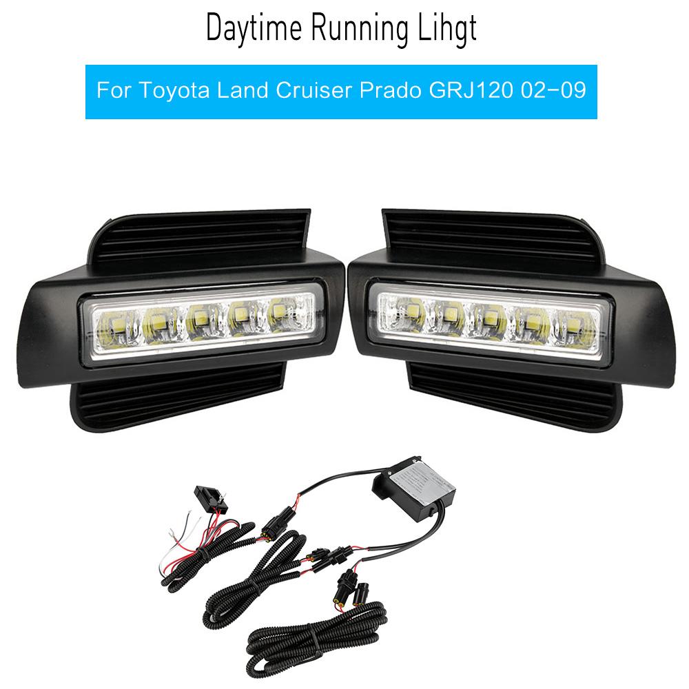 Rear Fog Lights For TOYOTA Land Cruiser LC120 02-09 Tail Bumper Lamps LED White