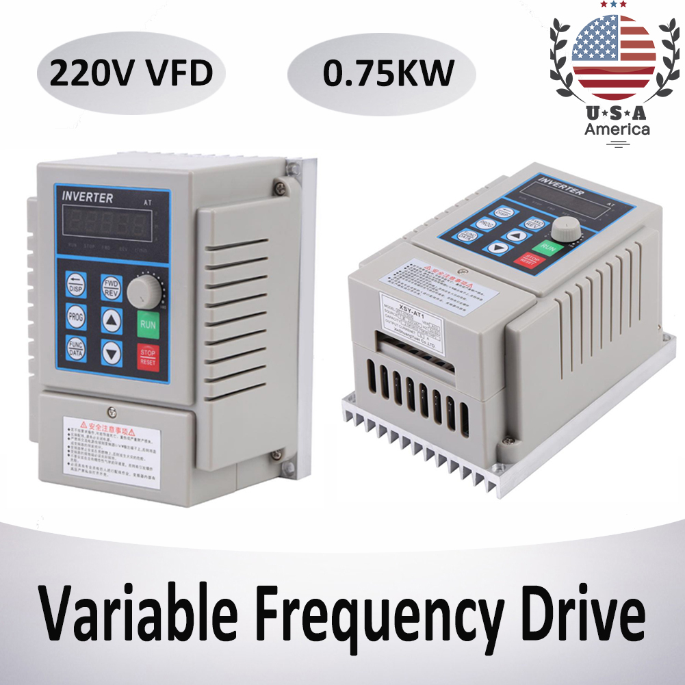 220V 1HP Single to 3 Phase Variable Frequency Drive Inverter Frequency Converter