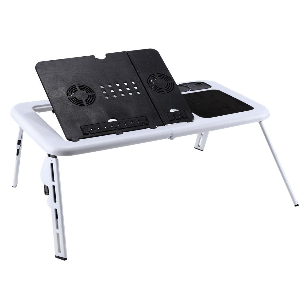 360° Adjustable Laptop Notebook PC Desk Table Stand  Bed Tray w/ Cooling Fan USA