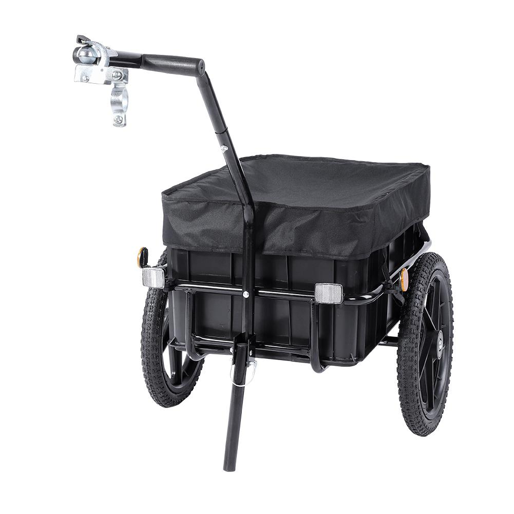 2 in 1 fahrradanh nger lastenanh nger transportanh nger handwagen gep ckwagen sg ebay. Black Bedroom Furniture Sets. Home Design Ideas