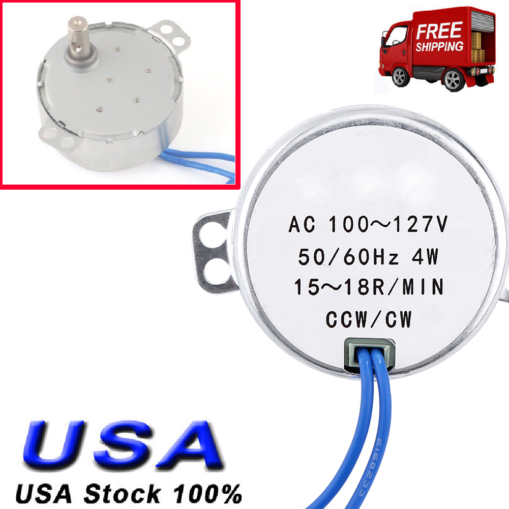 Synchronous Motor TYC AC 100-127V 5-6R CW NEW Shipped Free From US Min CCW