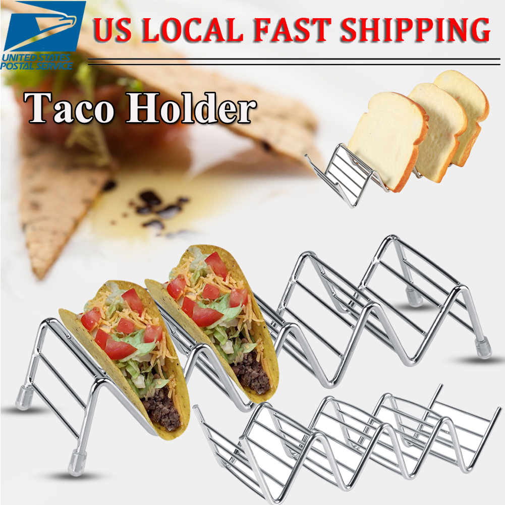 Taco Holder Stainless Steel Taco Stand Mexican Food Rack Shells 1-4 Slots ME S