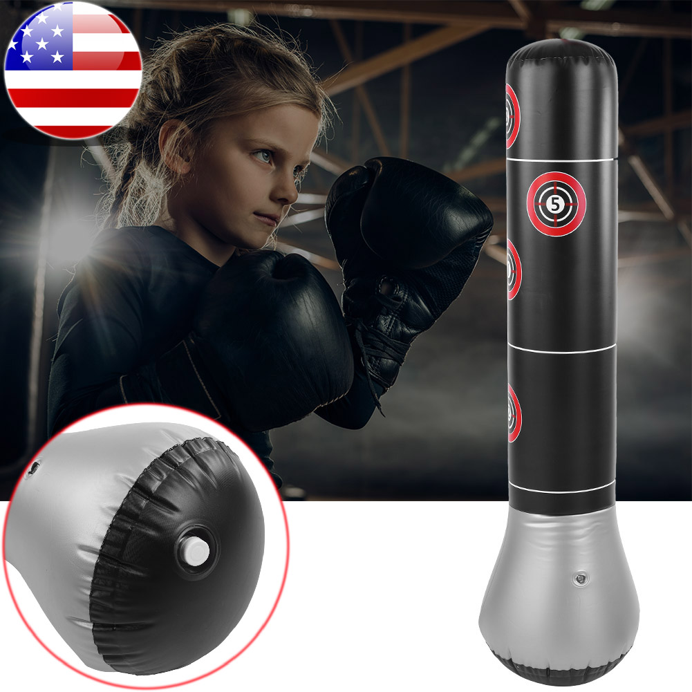 Pure Boxing Inflatable Free-Standing MMA Training//Punching Bag Bounce-Back Base
