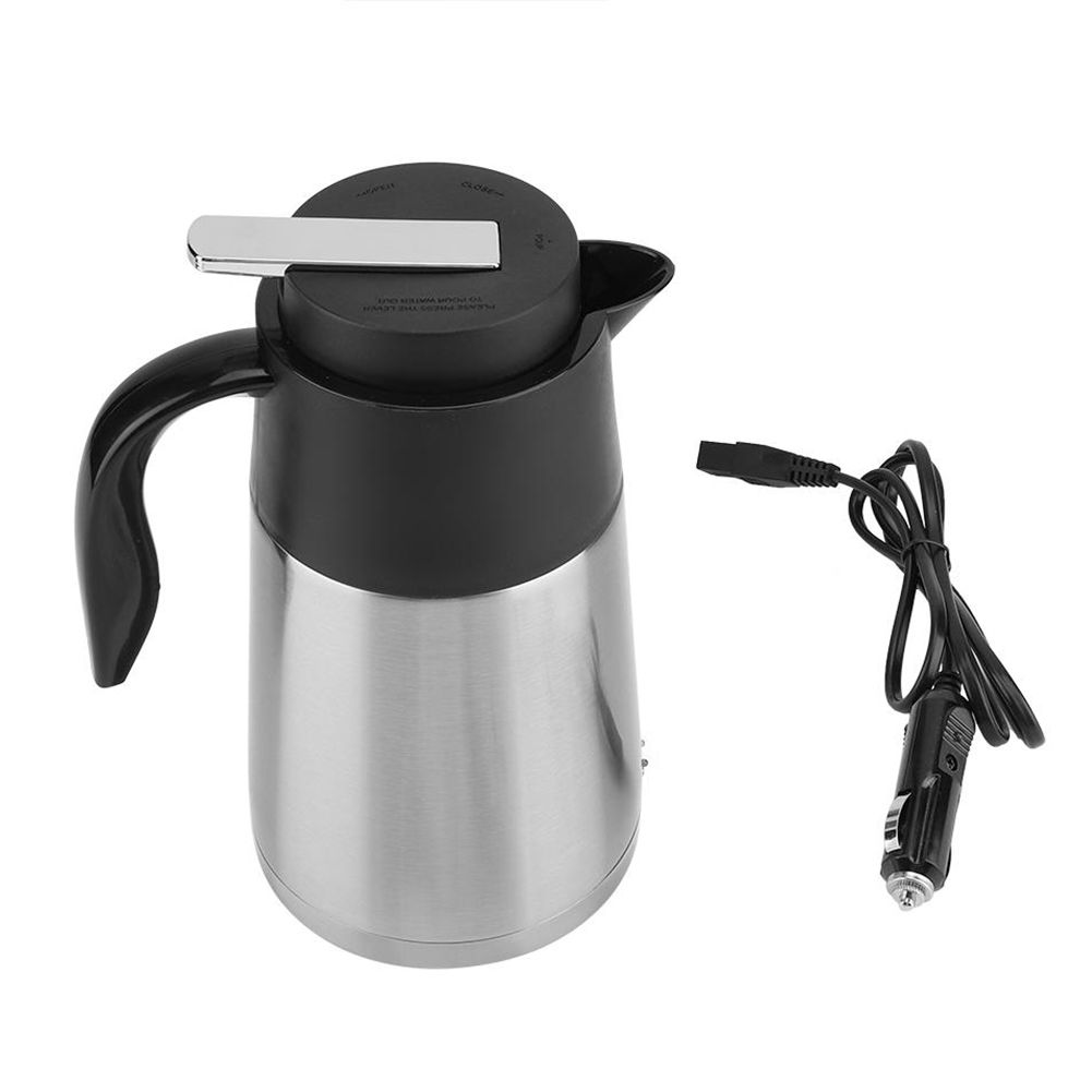 1.3L 12V Portable In-Car Electric Kettle Stainless Steel Camping Insulation Cup