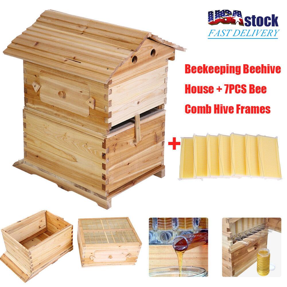 4PCs Beehive Frames Beekeeping Auto Honey Hive Food-grade Plastic Honey Produce