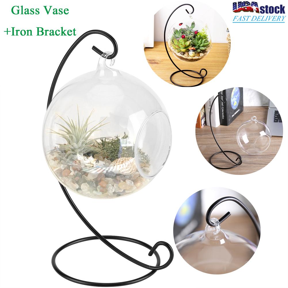 Flower Hanging Vase Glass Planter Terrarium Container Home Garden