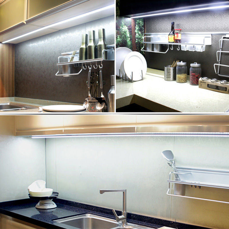 Details About 4pcs Kitchen Under Cabinet Shelf Counter Led Light Bar 1440lm Lighting Kit Lamp