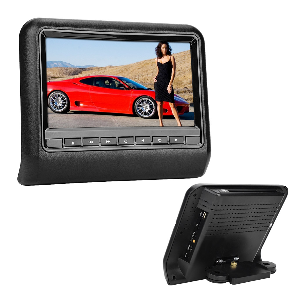 Details About Universal Mount 9 LCD Pillow Back Car Headrest Monitor DVD Player USB SD Games
