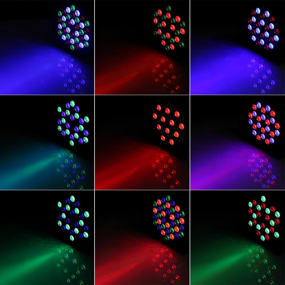 36LED RGB Bühnenbeleuchtung Stagelampe DMX512 Lichteffekt Strahler Party GB