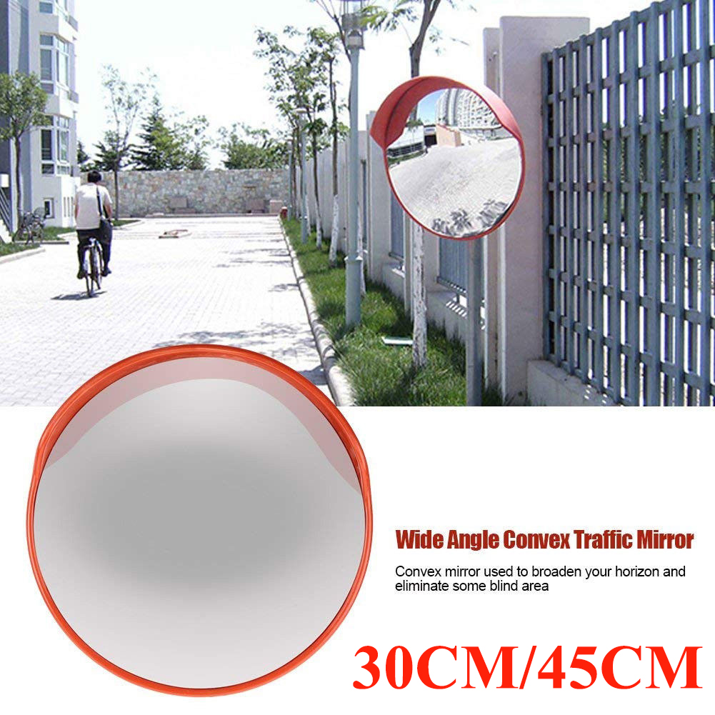 Traffic Mirror Wide Angle Driveway Road Convex Safety Traffic Mirror Blind Spot Convex Driveway Mirror with Mounting Hardware Accessories 45cm//17.72in