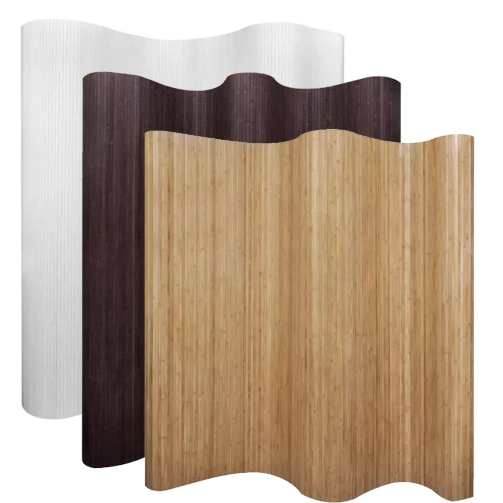 Vidaxl Bambus Raumteiler Paravent Sichtschutz Dunkelbraun 250 195 Cm