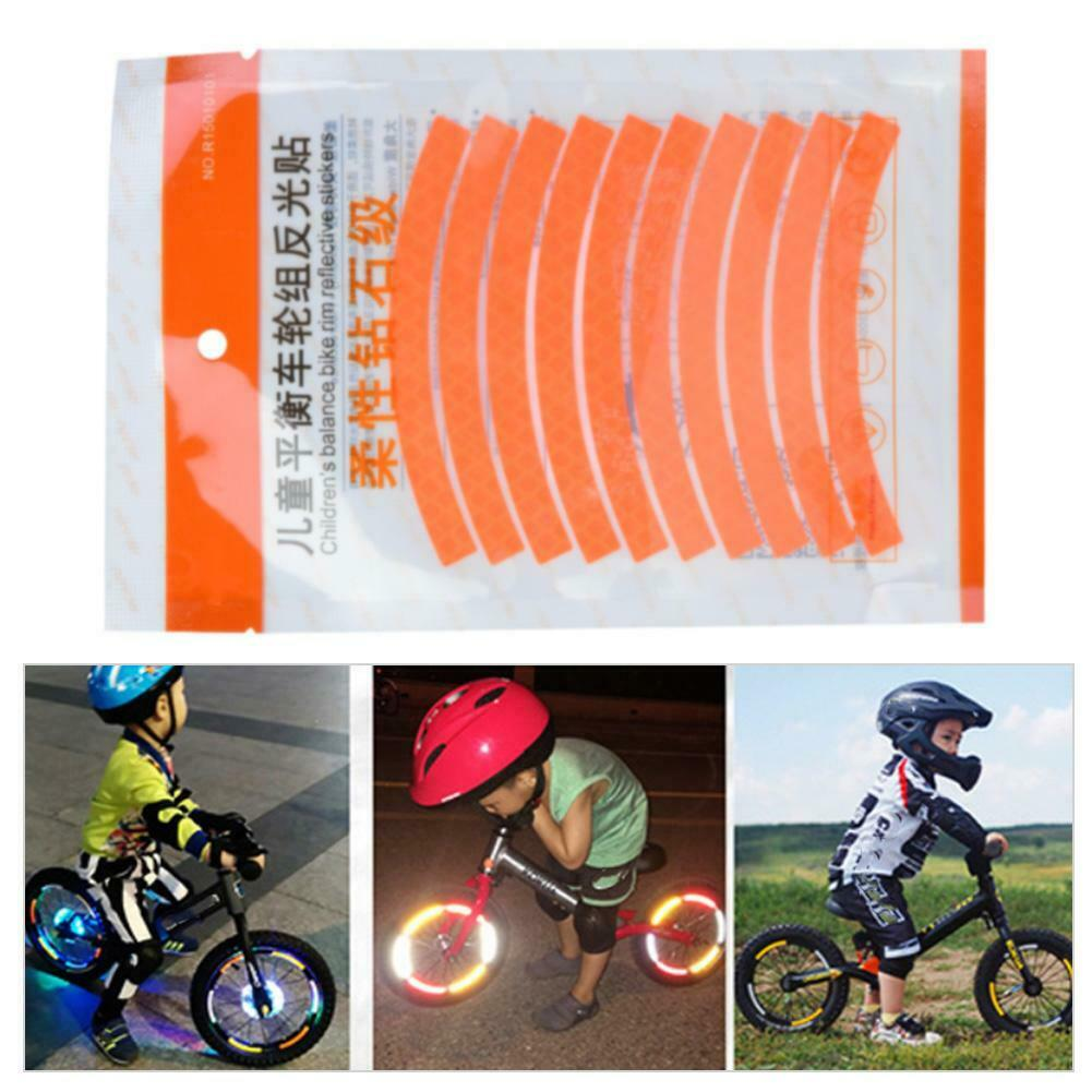 8M Fluorescent Car Bicycle Bike Wheel Rim Reflective Stickers Safety Strip Tape