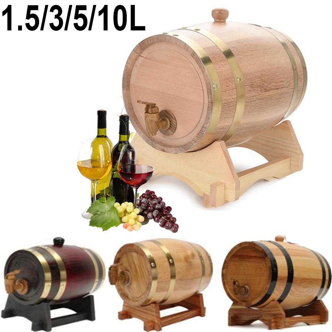 1.5//3//5//10L Eichenholz Weinfass Eichenfass Weinfass Regenfass Holzfass LIFE