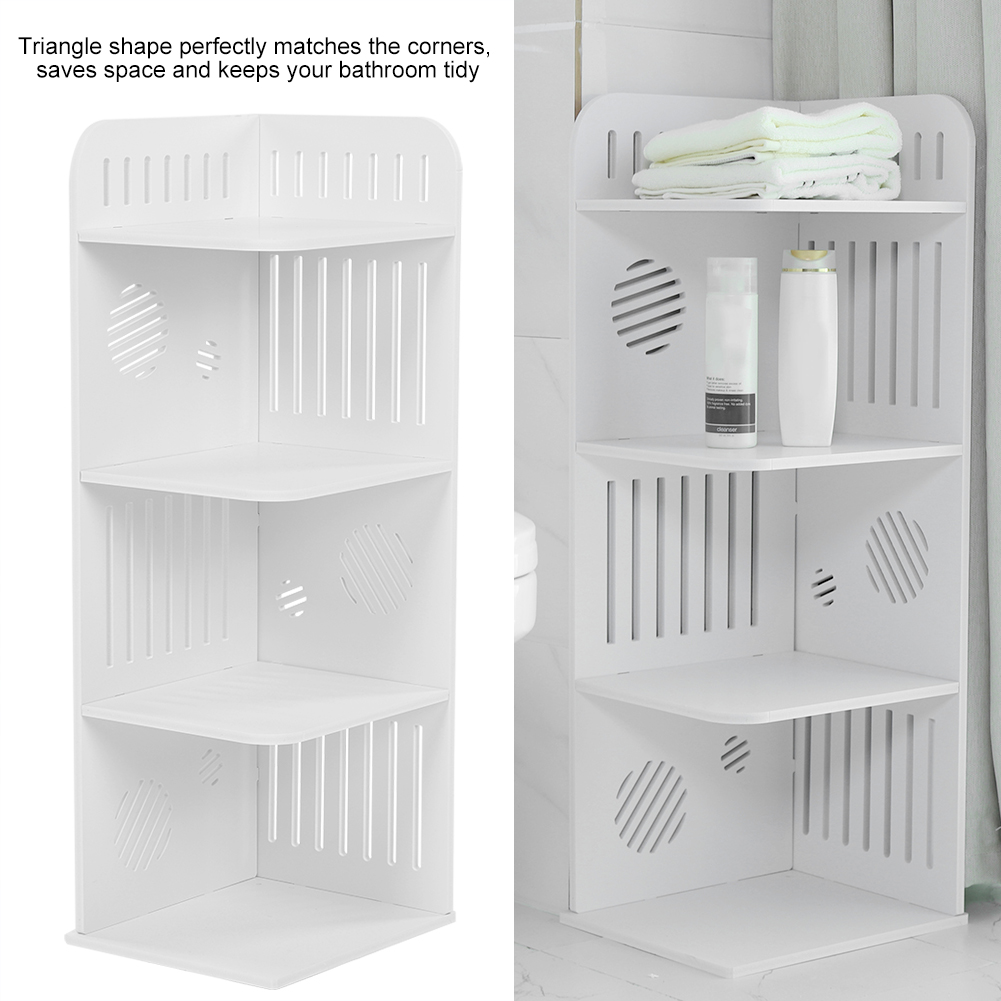 Stupendous Details About 4Tier White Bathroom Corner Storage Display Rack Bookcase Book Shelf Home Office Home Interior And Landscaping Ferensignezvosmurscom