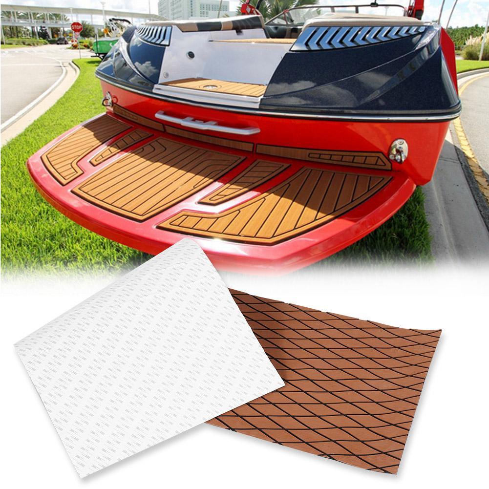 Teak EVA Schaum Boot Yacht Bodenbelag-Matte Deck Teppich Selbstklebend 190x70cm