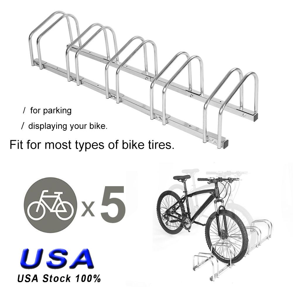 4//5 Racks Bike Bicycle Holder Stand Floor Parking Ground Stable Storage Garage
