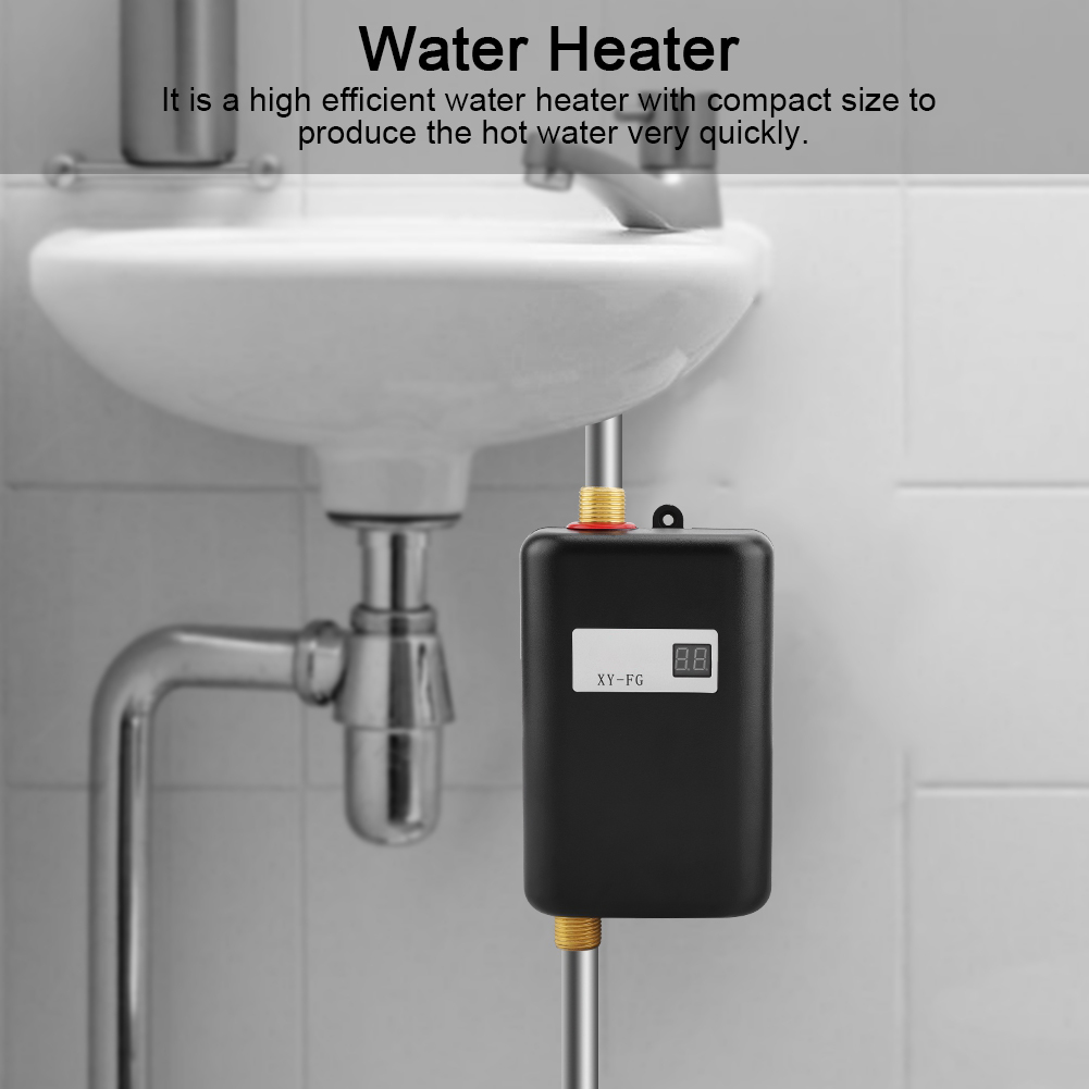 Mini 3000w Tankless Instant Electric Home Hot Water Heater