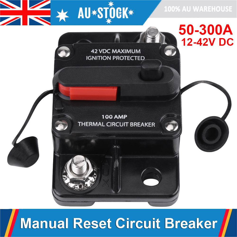 Replacement Car Marine 50A//250A Circuit Breaker Reset Switch Fuse Holder 12V-42V