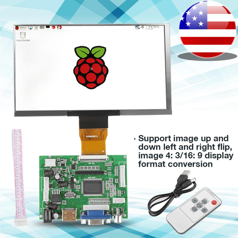 1pc 7 inch Raspberry Pi 3//2 LCD TFT Display 1024*600 HDMI VGA Monitor Screen Kit