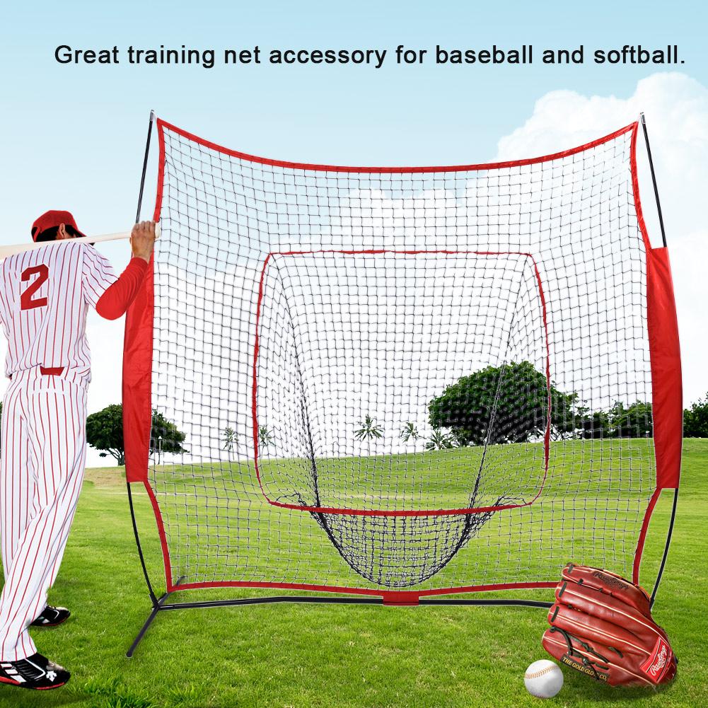 7 x 7 FT Bow Frame Baseball Softball Practice Hitting Batting Training Net for Hitting /& Pitching/ UK STOCK