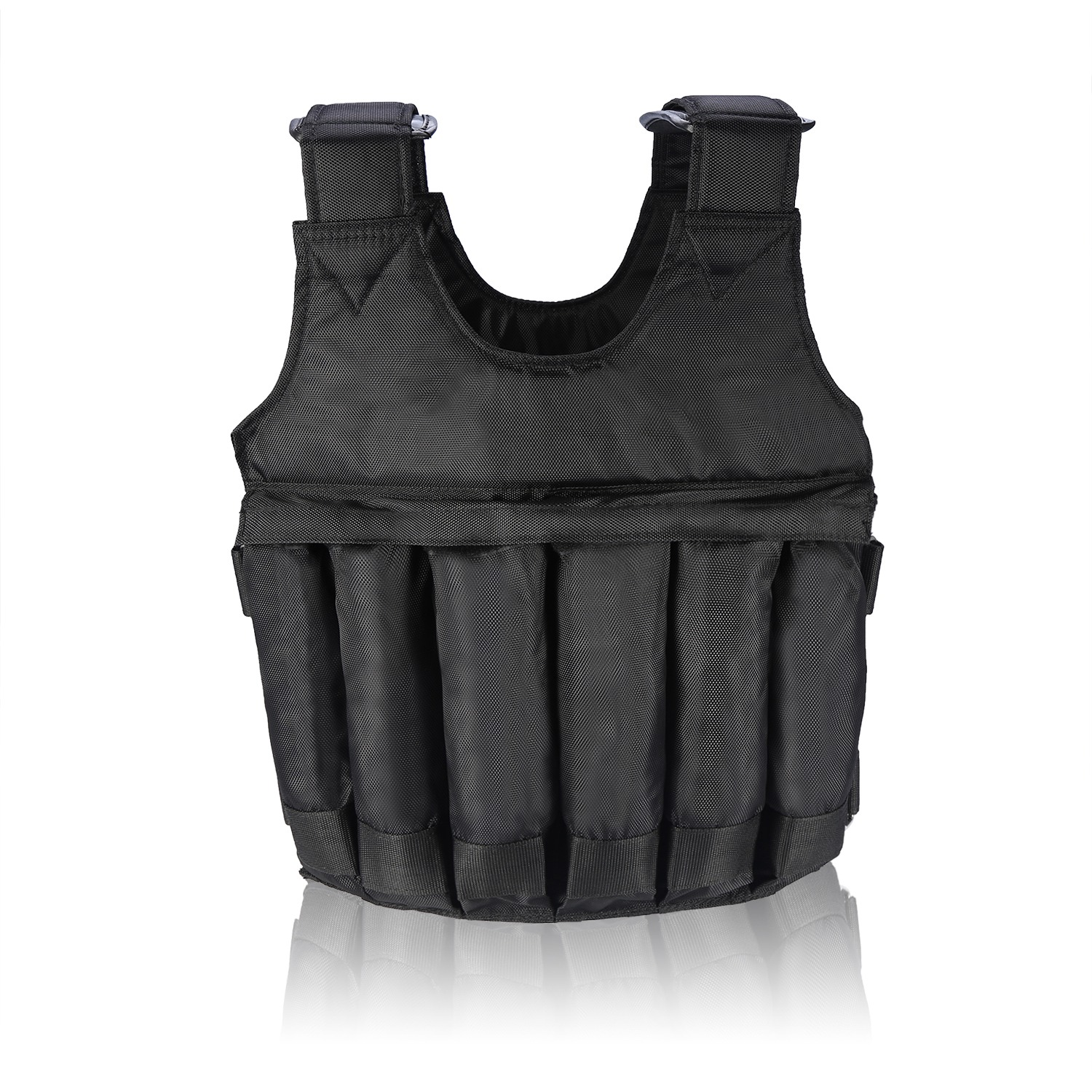 Weighted-Vest-44-110lbs-Weight-Workout-Exercise-Body-Training-Crossfit-Equipment thumbnail 13