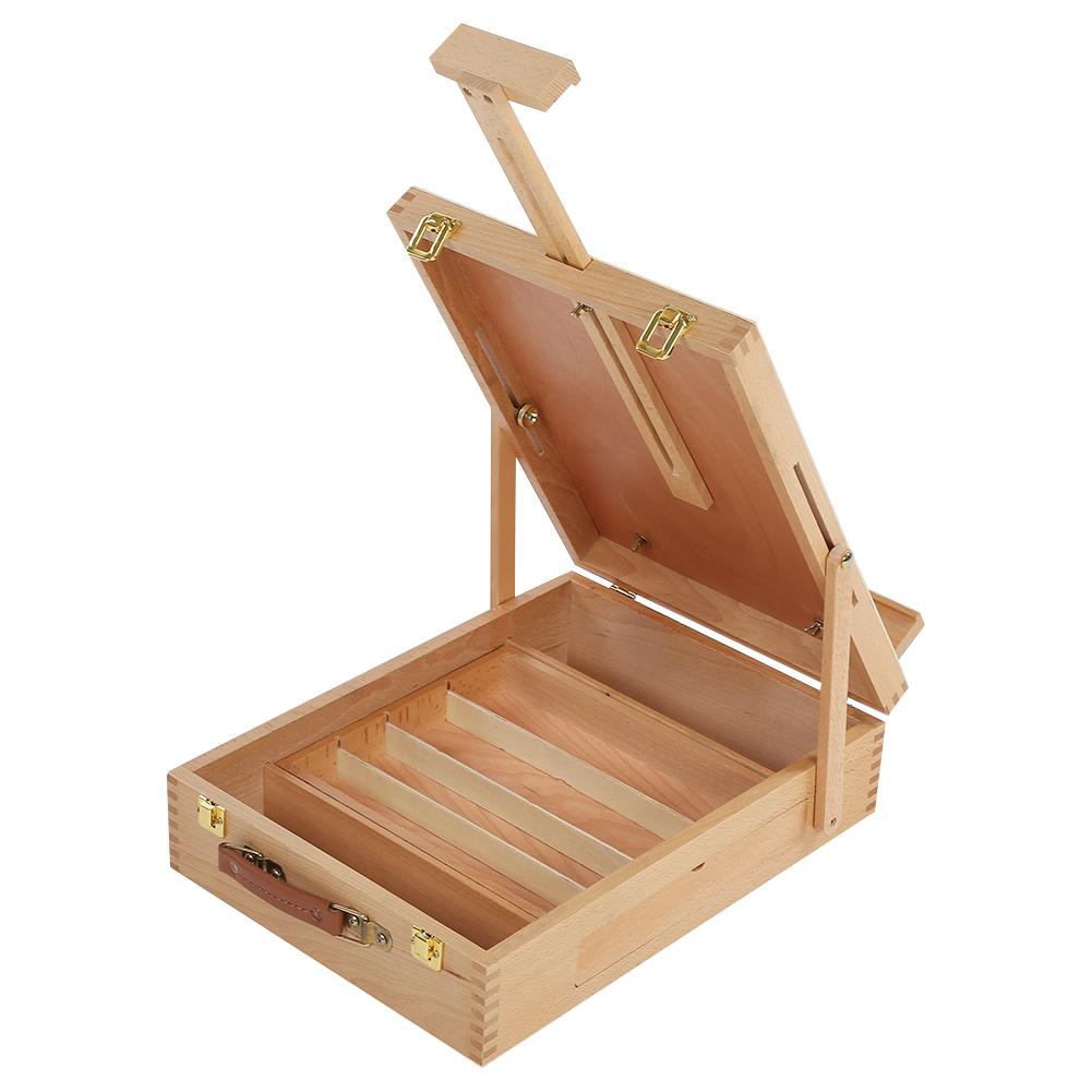 Folding/&Portable Artist Desk Easel Wood Multi Positions Sketching Sketch Dr J1J3