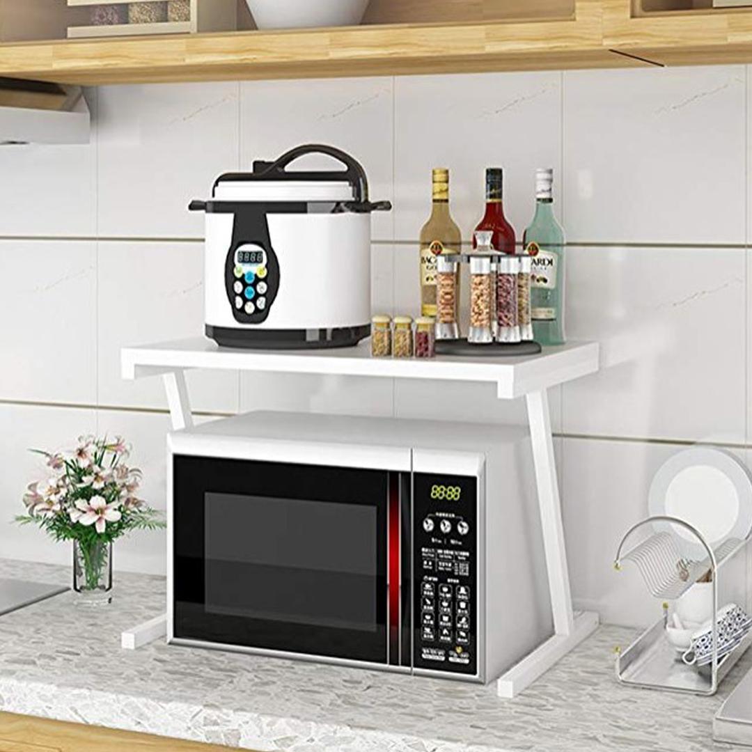 Küchenregal Mikrowellenhalter Metallregal 2 Ablage Küchenschrank Haushaltsregal