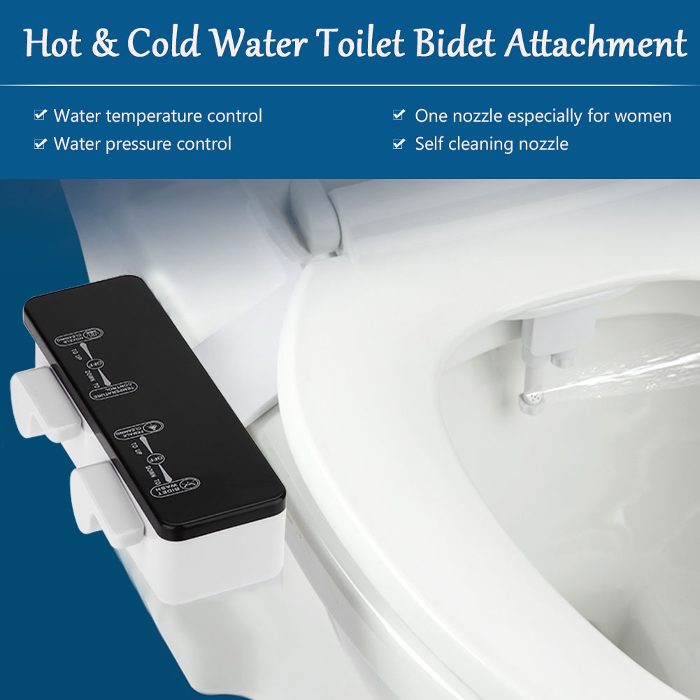 Pleasant Details About Water Spray Two Nozzle Self Cleaning Non Electric Bidet Toilet Seat Temp Control Caraccident5 Cool Chair Designs And Ideas Caraccident5Info