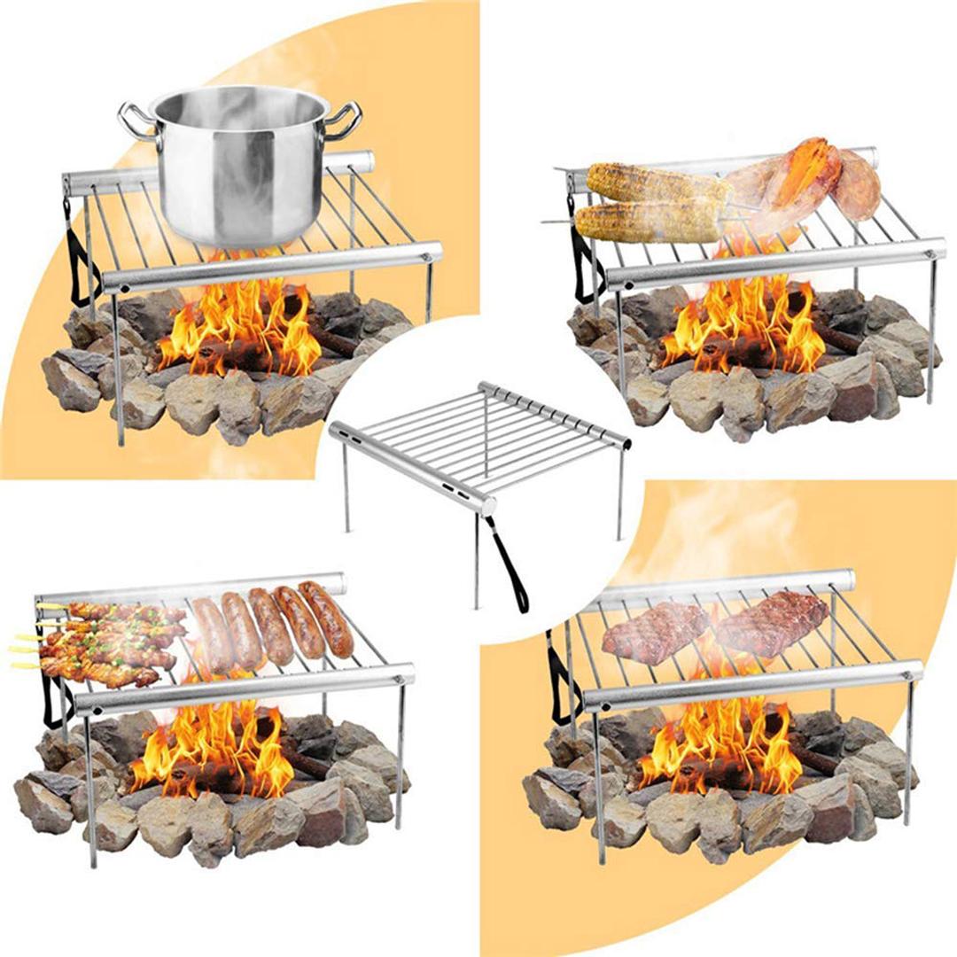 Outdoor Klappgrill Koffergrill Edelstahl BBQ Camping Grill Compact Minigrill DE