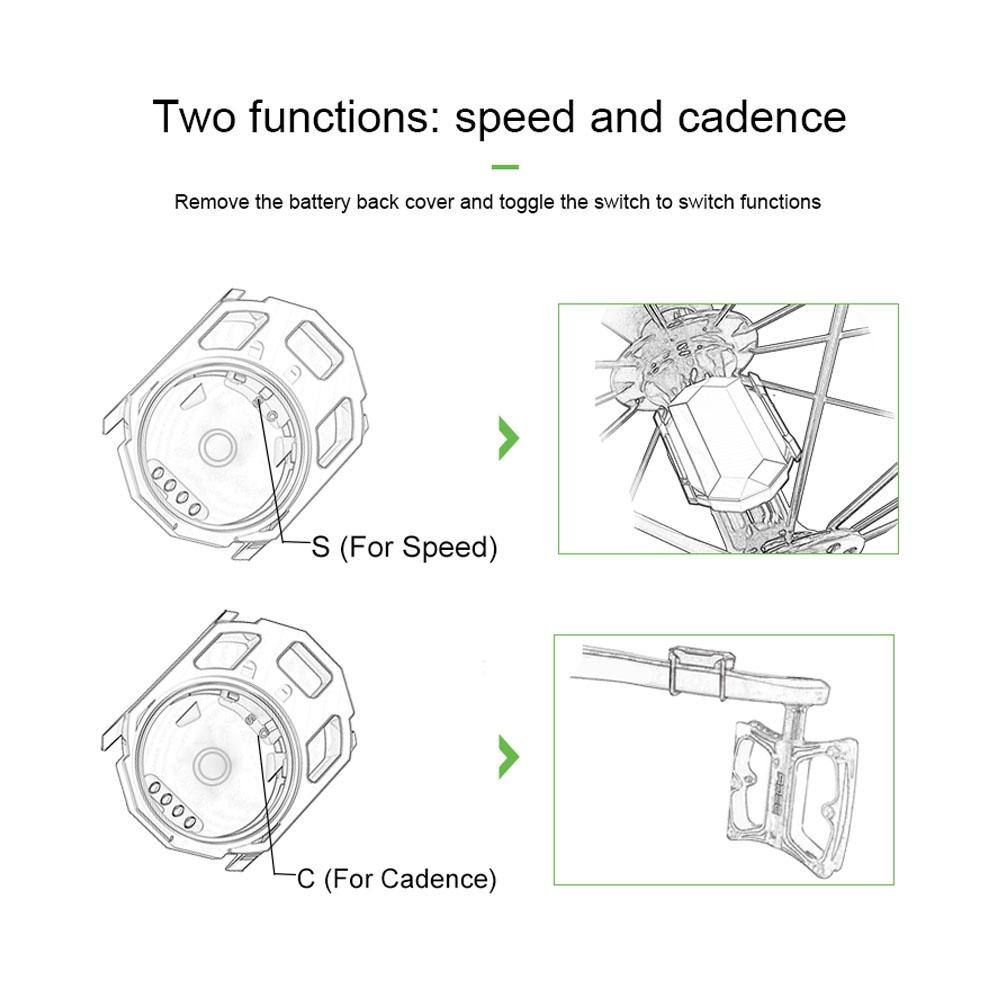 Details about Bike Bicycle Bluetooth 4 0 ANT+ Wireless Speed Sensor For  Garmin Bryton Zwift