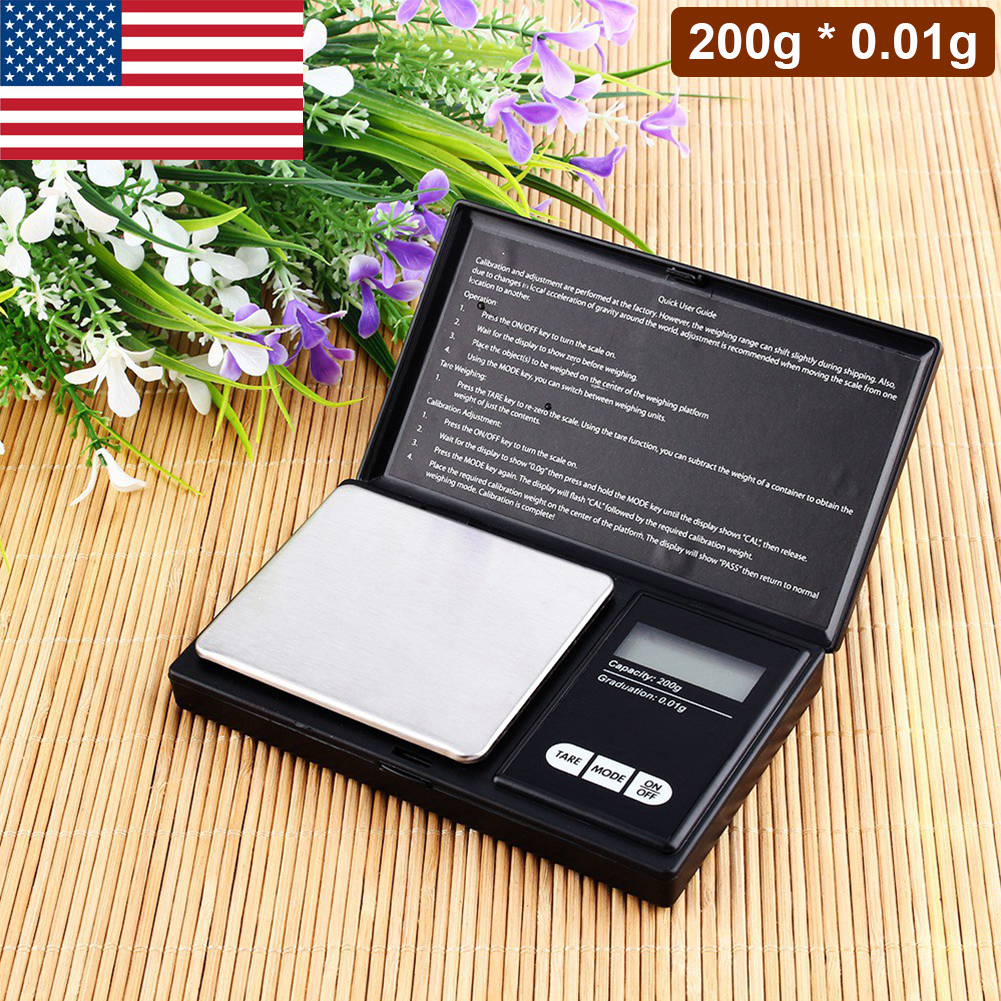 Details about Pocket Digital Scale Weight 200g x 0 01g Jewelry Gold Silver  Grain Balance Gram
