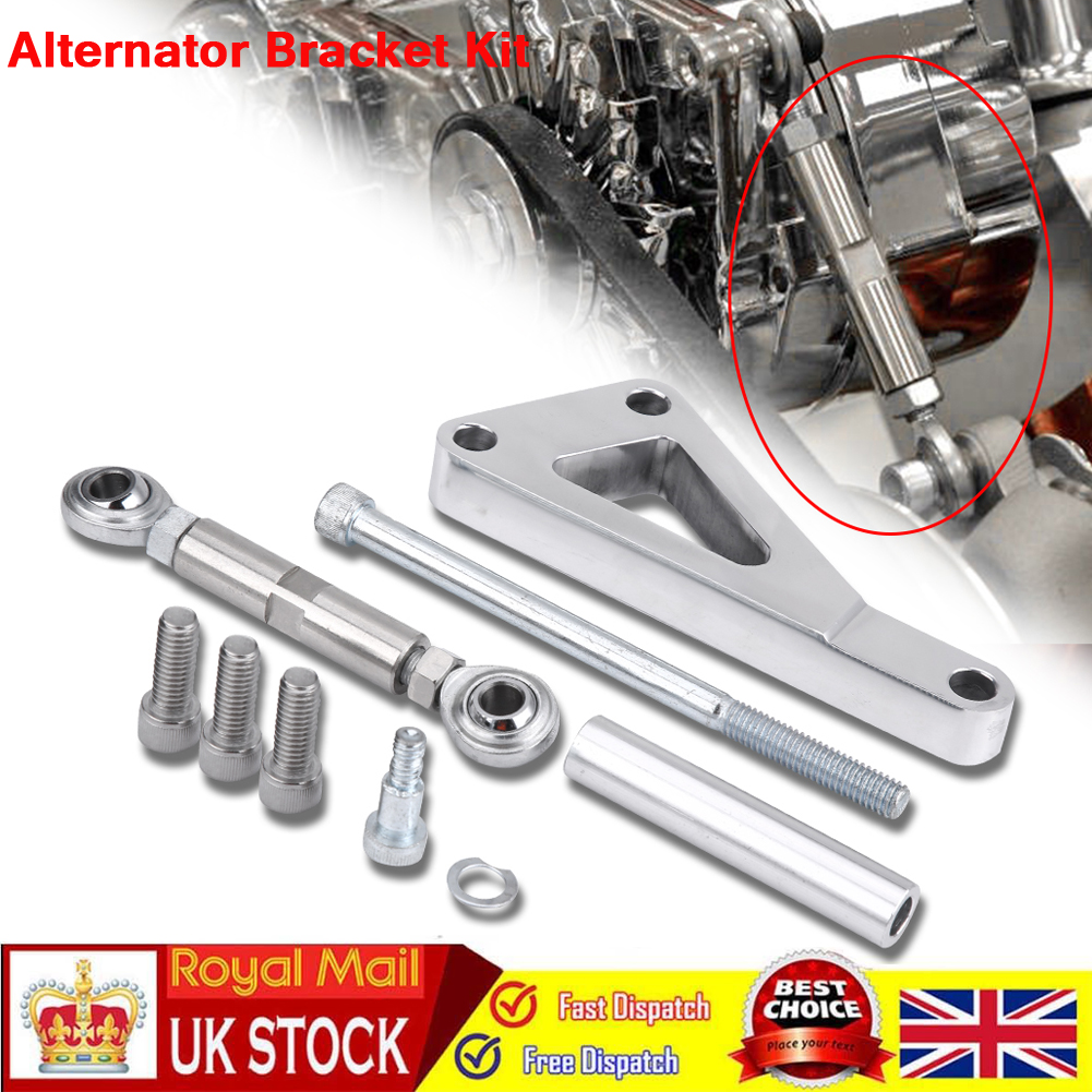 Polished Aluminum Water Pump Lwp Alternator Bracket Kit For Chevy SBC 350 Silver