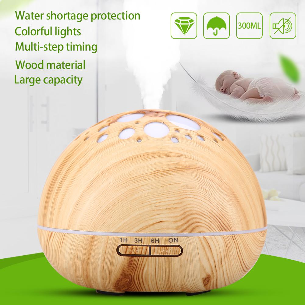 Holzmaserung Ultraschall VicTsing 300ml Aroma Diffuser Schwarz Holz