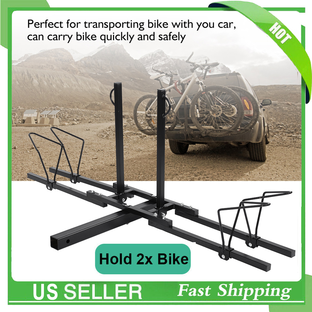 2/'/' Heavy Duty 2 Bike Bicycle Carrier Hitch Receiver Car Truck SUV Mount Rack US