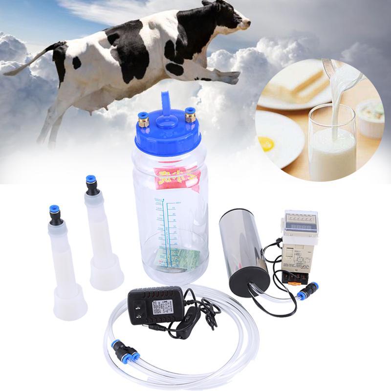 2、3L Elektrisch Melkmaschine Melken Kühe für Ziegen Milker Melkeimer Vakuumpumpe