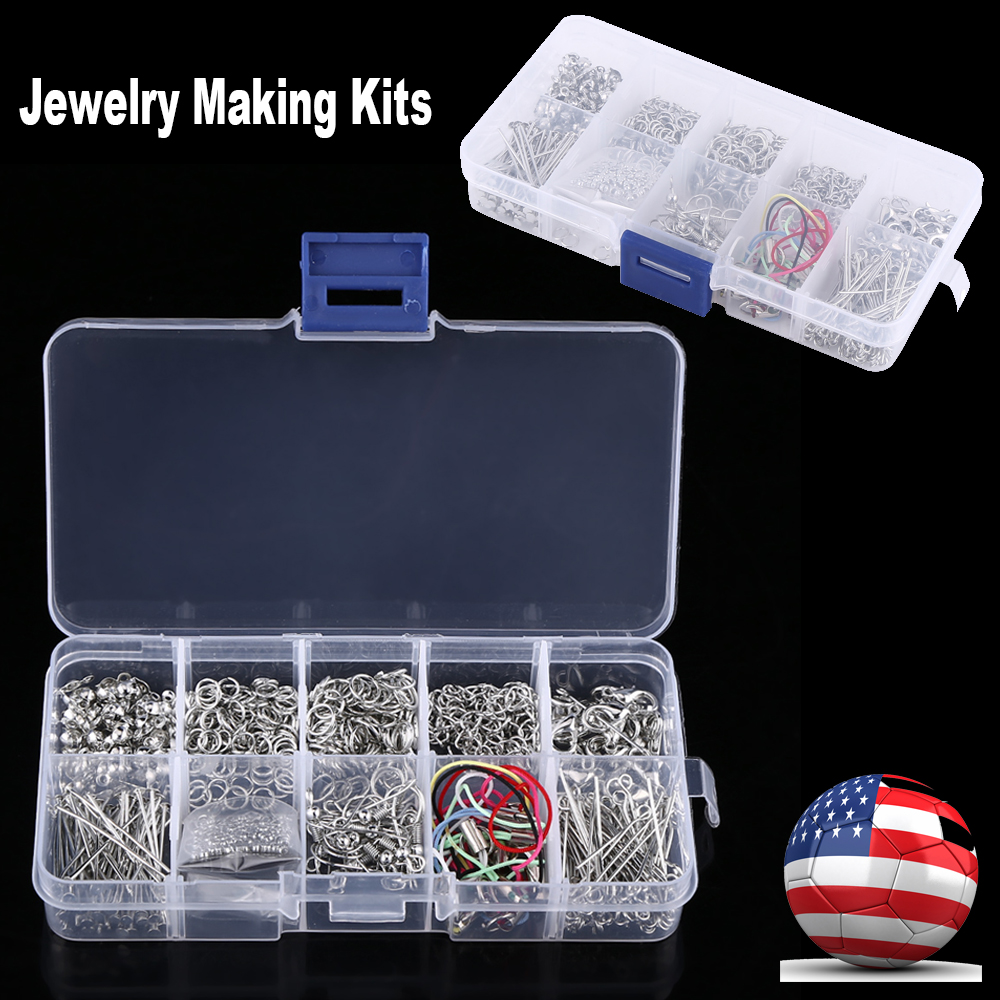 Jewelry Making Starter Kit Earring Bracelet Necklace Findings Craft DIY PP Box